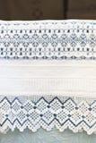 Ręcznik z crochet koronką Obrazy Stock