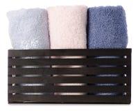 Ręcznika koloru set w boksuje skąpanie Zdjęcie Royalty Free