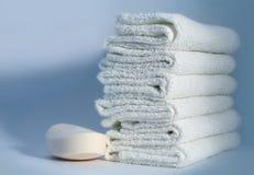ręczniki mydła obraz royalty free