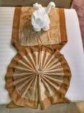 Ręcznikowy origani zdjęcia royalty free