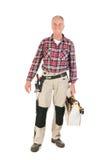 Ręczny pracownik z ciężkim toolkit Zdjęcie Stock