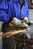 ręczny przemysł ciężki pracownik obrazy royalty free