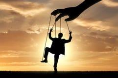 Ręk kontrola mężczyzna marionetka Zdjęcie Stock