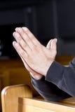 ręk mężczyzna pozyci modlitwa s zdjęcie royalty free
