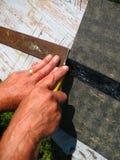 ręk mężczyzna s działanie Fotografia Stock