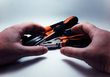 Ręk narzędzia na białym tle fotografia stock