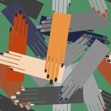 Ręk palm wektoru zieleni bezszwowy wzór royalty ilustracja