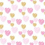 ręk patroszeni serca deseniują bezszwowego zdjęcia royalty free