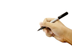 Ręk pisać odizolowywam na białym tle zdjęcie royalty free