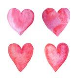 ręk serca ja zrobili malującej akwareli ja Zdjęcia Stock