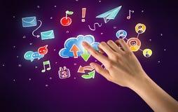 Ręk wzruszające ikony Fotografia Stock