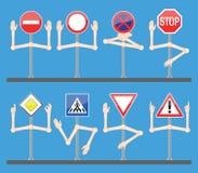 ręk znaków ruch drogowy royalty ilustracja