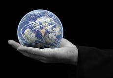 ręka świat Zdjęcie Stock