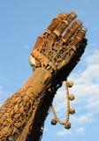 ręka 2 heavy metalową modlenie obrazy stock