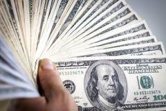 ręka amerykańscy dolary Fotografia Royalty Free