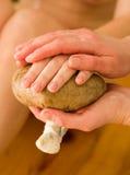ręka ayurvedic masażu oleju Zdjęcia Stock
