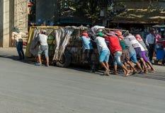 Ręka bagaż w Kambodża obrazy royalty free