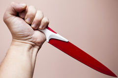 ręka biel odosobniony nożowy Obraz Royalty Free