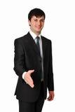ręka biznesowy uścisk dłoni rozciąganie mężczyzna rozciąganie Obraz Royalty Free