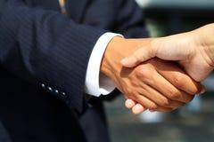 ręka drży interesy ludzi Zdjęcia Stock