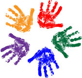 ręka dzieciaki Fotografia Royalty Free