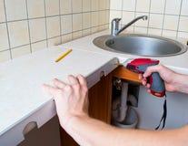 ręka elektryczny śrubokręt Zdjęcie Stock