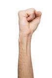 Ręka gest, mężczyzna zaciskał pięść, przygotowywającą uderzać pięścią Obraz Stock