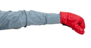 Ręka gest - urzędnik z rękawiczkowymi ponczami Obraz Stock