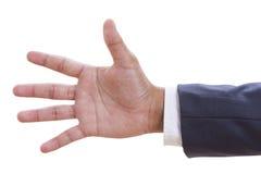 ręka gesta liczby pięć zbliżenie Fotografia Stock