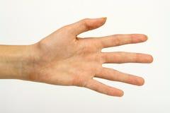ręka gestu manicure kobiety Obraz Royalty Free