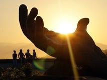 ręka gigantyczny kamień Zdjęcie Royalty Free