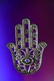 Ręka Hamsa lub Fatima z okiem zdjęcie stock