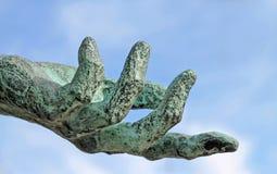 Ręka i niebo Zdjęcie Stock