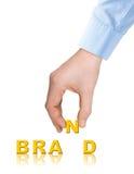 Ręka i słowa Gatunek obrazy stock