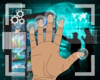Ręka interfejs Zdjęcia Stock