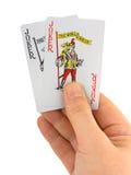 ręka jokery 2 obrazy royalty free
