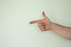 Ręka kierunku męski symbol Zdjęcia Stock