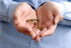 ręka klucz Zdjęcia Stock