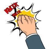 Ręka knokning drzwiową wystrzał sztuki wektoru ilustrację Zdjęcie Royalty Free