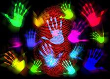 ręka kolorowy palcowy druk royalty ilustracja