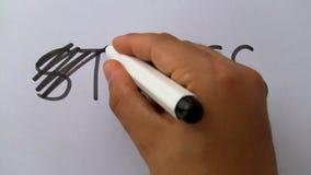 Ręka krzyżuje out stresu słowo zbiory wideo
