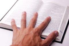 ręka księgowej otwarta Obraz Stock