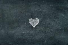 Ręka kształta rysunkowy kierowy symbol na blackboard Fotografia Stock
