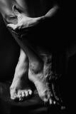 ręka kształtu stopy Obrazy Stock