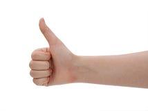 Ręka lubi na białym tle Pojęcie Obrazy Stock
