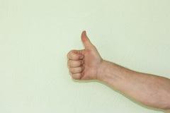 Ręka męski symbol Fotografia Stock