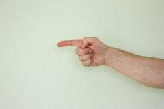 Ręka męski symbol wskazywać Obraz Royalty Free