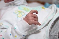 Ręka mały męski dziecko Obrazy Royalty Free
