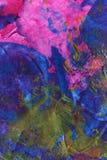 Ręka malujący akrylowy sztuki tło Fotografia Stock