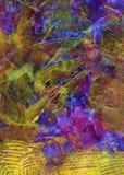 Ręka malujący akrylowy sztuki tło Zdjęcie Royalty Free